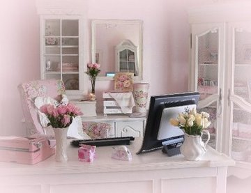 Pale Pink And Roses office supplies