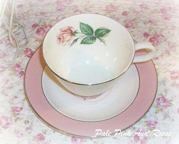 Lifetime China Cup & Saucer Pink Rose