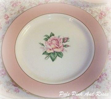 Lifetime China Dessert Plate Pink Rose