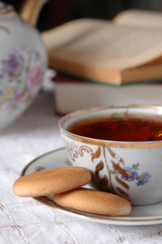 Teacup and cookies