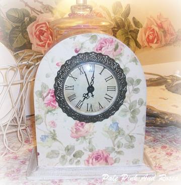 Pink Rose Clock