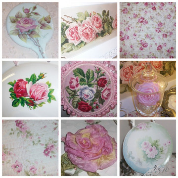 Pink Roses Collage ~ Pink Saturday