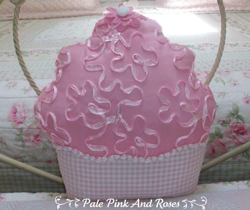 Pink cupcake pillow