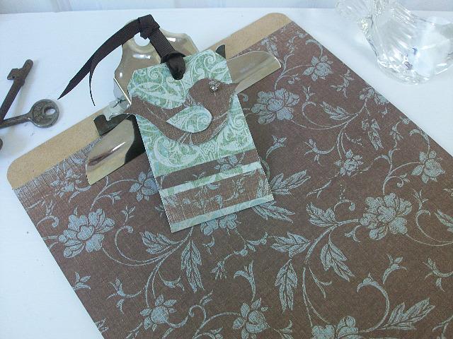 Brown green and bird clipboard - 1